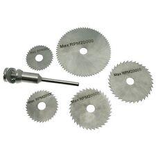 6pz HSS sega in acciaio taglio disco ruota Set accoppiamenti ROTANTE MINI TRAPANI tagliato DISCHI