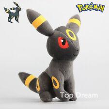 Genuine Pokemon Eevee UMBREON Plush Toy Soft Stuffed Animal Doll 23cm 9'' Teddy