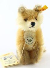 "Steiff Fuchs 1916 Replica Fox Sitting 5.25"" Tall W/ Button ca 1980s?"