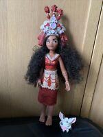 Disney Store Moana Singing How Far I'll Go Doll Rare & Some Accessories