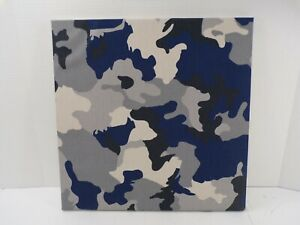 Pottery Barn Canvas Photo Picture Display Board Style Tile WallSystem Camo 9510D