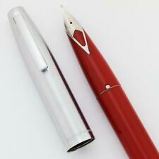 Sheaffer 440 Fountain Pen - Red, Fine Short Diamond Nib (New Old Stock in Box)