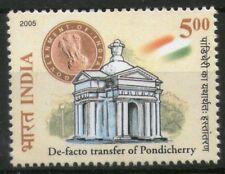 INDIA 2005 De Facto Transfer Pondicherry French territory stamp Architecture