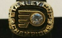 RARE 1974 PHILADELPHIA FLYERS Stanley Cup Championship Ring 18k GOLD PLATED USA*