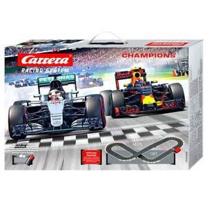 Carrera 1:43 Scale Slot Car Racing Rally Track F1 Champions w/ 2 Vehicles Kids