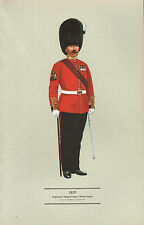 VINTAGE MILITARY BRITISH UNIFORM PRINT 1920 REGIMENTAL SERGEANT-MAJOR WELSH GUAR