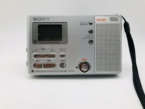 MD1393 Not Tested  SONY PORTABLE MINIDISC RECORDER MZ-B10  Silver