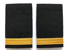 1 Bar Airline Pilot or Merchant Marine Epaulette, Gold Stripe Epaulettes