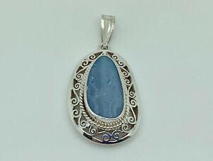 Gorgeous Vintage Sterling Silver Boulder Opal Ornate Statement Pendant