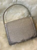 Vintage Metallic Silver Small Purse Made In Spain By Magid
