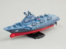 Remote Control RC Micro Boat AIRCRAFT CARRIER Navy Ship  2.4GHz -BLUE-