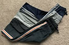 Lot Of 4 Pull On Elastic Waist Pants Size 4T Jumping Beans Garanimals Grey Blue