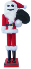 "The Nightmare Before Christmas Santa Suit Jack Skellington Nutcracker 15""H"