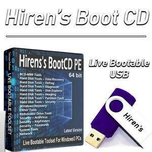 WINDOWS 10 HIREN'S BOOT CD PE on LIVE USB | RECOVERY | RESTORE | REPAIR | PC FIX