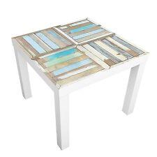 Beistelltisch Rustic Timber Tisch Türkis Braun Motiv Couchtisch Stubentisch