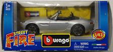 Bburago-BMW z8 silbermet. 1:43 Nouveau/Neuf dans sa boîte voiture miniature