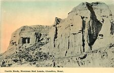 Glendive Mt Dawn Arises Over Castle Rock in the Badlands~c1910 Postcard