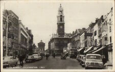 Colchester UK High Street Cars 1950s Real Photo Postcard