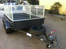 Tandem Box Trailer with Cage dual axle 8X5 2T ATM  9x5 10x5 10x6 also avail