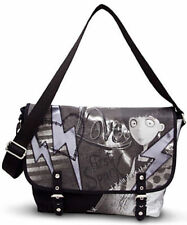 Disney Store Frankenweenie Crossbody Messenger Bag Tim Burton Black Gray Purse