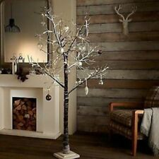 7ft Snowy Effect Cool White Twig Tree Pre-lit 120 LED XMAS Lights Indoor/Outdoor