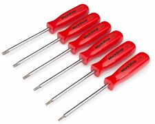 6 Pc. Star Screwdriver Set with Magnetized Tips and Storage Rack