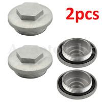 2X For Honda Oil Drain Plug Cap Cover & O-Ring ATC125 ATC185 ATC200 TRX125 CB100