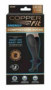Copper Fit Men's Compression Socks - Black, US 9-12