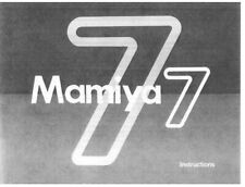 Mamiya 7 Instruction Manual photocopy