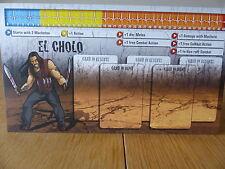Zombicide-EL Cholo-Carattere Pannello Di Controllo Card (solo scheda)