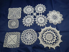 linge de maison ancien dentelle 7 napperons, centre de table / Lace place mat