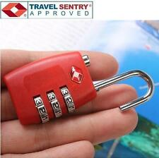 Jasit 3 Dial Combination TSA Accepted Luggage Suitcase Travel Security Lock RED