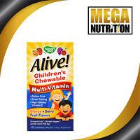Nature's Way Alive! Children's Chewable Multi-Vitamin Orange Berry 120 Tablets