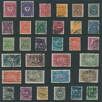 Lot Stamp Germany Imperial Reich Munich Oval Inflation Farmers Used