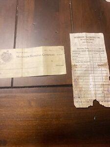 1920s Mosheim Bank checks receipts Greeneville Tennessee TN