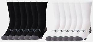 Under Armour Men's UA Resistor III Crew Socks 6 Pack of Socks