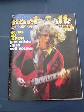 Rock & Folk 1982 188 AC/DC KIM WILDE NEIL YOUNG RANDY CALIFORNIA JON ANDERSON CL