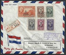 Surinam 1945 cens FDCcover FLYING for FREEDOM to Curacao