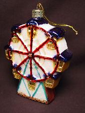 NOS Blown Glass Ferris Wheel Xmas Tree Ornament Carnival Park Ride Handmade