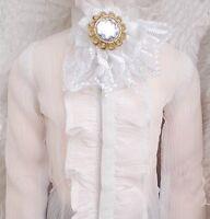 [wamami] White Lace Collar Bow 1/3 & 1/4 SD MSD AOD DOD DZ BJD Dollfie
