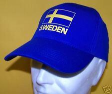 SUEDE: CASQUETTE bleue SWEDEN avec DRAPEAU SUEDOIS