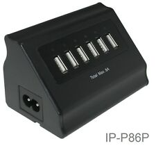 6 Port USB Wall Smart charger for Smartphones, Tablets, and more, 40W/8A, 5V