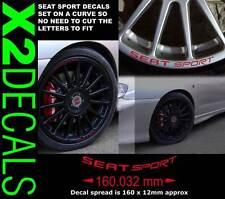 tous les modèles Seat Sport alliage STICKER DE ROUE JANTE DECAL Rouge Large