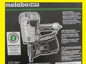 "Metabo-HPT NV90AGSM 3-1/2"" Coil Framing Nailer New NV90AGS"