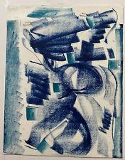 Tableau Ecole Paris Art Moderne Composition Abstraite Pastel de Marco Chonchol