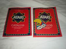 2 vintage atari video computer system catalogs 45and 49 game program 1981