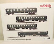 Märklin H0 42388 schweizer Oldtimer-Personenwagen-Set mit 4 Wagen    M69