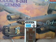 BOEING B24H LIBERATOR ZODIAC GEMINI 1/72 SCALE ACADEMY MODEL+ PHOTOETCHED PARTS