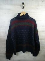 vtg Cosby Ralph lauren Roll neck  50% merino Wool sweater jumper refA21 XXL