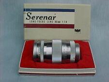 RARE Vintage Canon 85mm F1.9 Lens M39 Leica Screw Mt. - MINT in Orig. Canon Box!